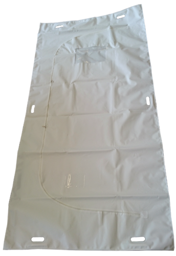 disaster body bag white + c-shaped zipper + window