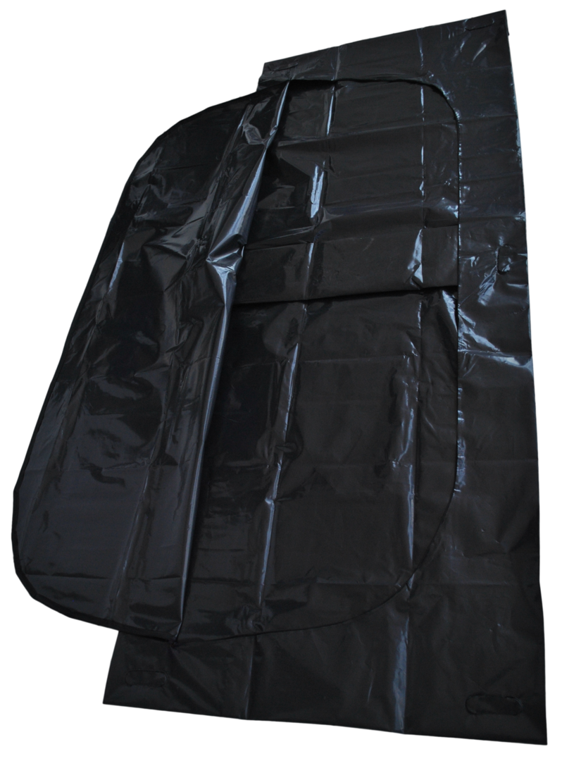 disaster body bag black with c-shaped zipper + 6 wood handles